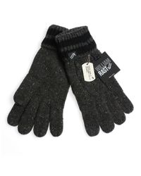 William Rast | Black Cable Knit Gloves for Men | Lyst