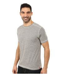 Agave | Gray Short Sleeve Crew Neck Streaky Jersey for Men | Lyst