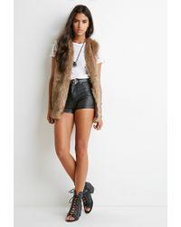 Forever 21 - Brown Faux Fur Vest - Lyst