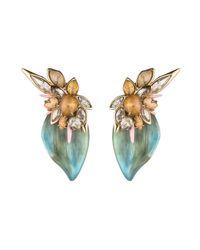 Alexis Bittar | Blue Desert Jasmine Petal Clip Earring | Lyst
