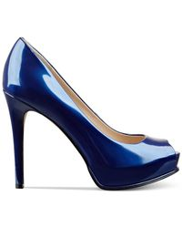 Guess | Blue Women's Honora Peep Toe Platform Pumps | Lyst