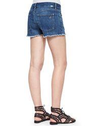 DL1961 - Blue Lola Frayed Denim Cutoff Shorts - Lyst