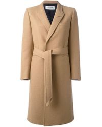 Saint Laurent - Natural Belted Trench Coat - Lyst