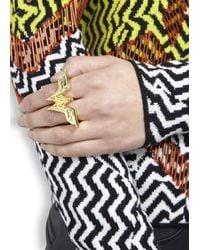 Noir Jewelry | Metallic X Dc Comics Wonder Woman 18Kt Gold Plated Ring | Lyst