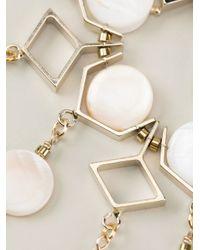 Ermanno Scervino | Metallic Mother Of Pearl Embellished Bracelet | Lyst