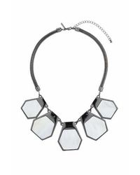 TOPSHOP | Natural Hexagon Mother Of Pearl Collar | Lyst
