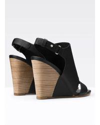 Vince - Black Karen Leather Wedge - Lyst