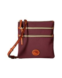 Dooney & Bourke | Brown Nylon North/south Triple Zip | Lyst