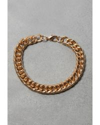 Forever 21 | Metallic Flash Trash Curb Chain Bracelet | Lyst