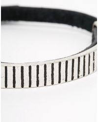 Icon Brand - Black Pay Attention Leather & Metal Bracelet for Men - Lyst