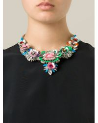 Shourouk | Multicolor 'apolonia Flower' Necklace | Lyst
