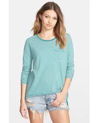 Volcom - Blue 'lived In' Long Sleeve Stripe Shirt - Lyst