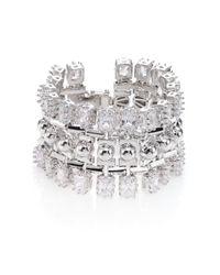 Eddie Borgo | Metallic Dome Estate Crystal Bracelet/silvertone | Lyst