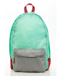 Forever 21 Green Colorblocked Backpack