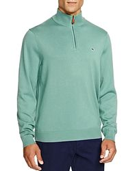 Vineyard Vines - Blue Quarter Zip Cotton Sweater for Men - Lyst