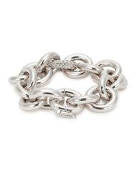 Eddie Borgo - Metallic Silver-plated Link Bracelet - Lyst