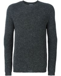 Laneus - Gray Crew Neck Sweater for Men - Lyst