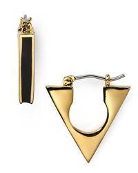 Marc By Marc Jacobs | Metallic Triangle Hoop Earrings | Lyst