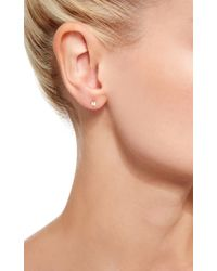 Lauren Klassen | Metallic Plain Padlock Stud Earrings | Lyst