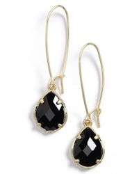 Kendra Scott - Black 'dee' Teardrop Earrings - Lyst