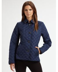 Burberry Brit | Blue 'copford' Quilted Jacket | Lyst