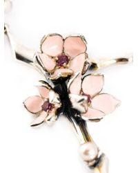 Shaun Leane - Metallic Sterling Silver 'cherry Blossom' Rhodolite Earrings - Lyst
