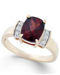 Macy's | Metallic Garnet (2-3/8 Ct. T.w.) And Diamond Accent Ring In 14k Gold | Lyst