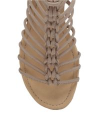Lucky Brand | Gray Casmett Leather Open-toe Sandals | Lyst
