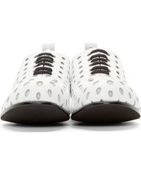 Comme des Garçons - White Punctured Polka Dot Oxfords - Lyst