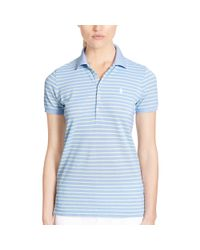 Ralph Lauren Golf - Yellow Tailored Golf-fit Striped Polo - Lyst