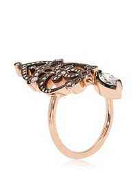 Sabine G - Pink Marquise Midfinger Ring - Lyst
