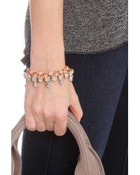 Joomi Lim - Orange Crystal, Skulls & Braid Brclt - Lyst