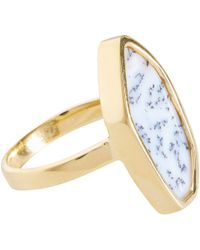 Monica Vinader - Blue Gold Vermeil Dendritic Agate Atlantis Ring - Lyst