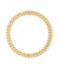 Adriana Orsini - Metallic Hammered Link Collar Necklace - Lyst
