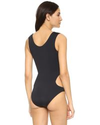 Moschino - One Piece Swimsuit - Black/yellow - Lyst