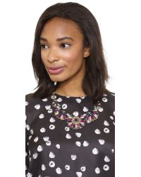 Deepa Gurnani | Multicolor Crystal Half Circle Necklace - Multi | Lyst
