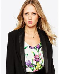 Ted Baker - Black Button Pendant Necklace - Lyst