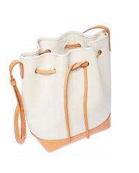 Mansur Gavriel - White Canvas Bucket Bag - Lyst