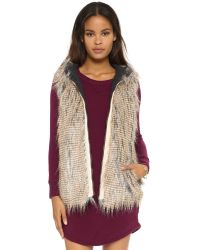 6 Shore Road By Pooja | Gray Hopi Reversible Faux Fur Vest | Lyst