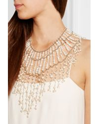 Rosantica - Metallic Ninfea Gold-tone, Pearl And Rock Crystal Necklace - Lyst