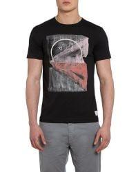 Paul Smith | Black Graphic Crew Neck Regular Fit T-shirt for Men | Lyst