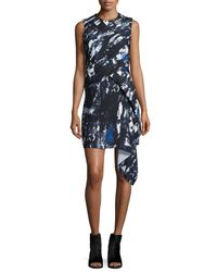 McQ - Multicolor Short-sleeve Printed Sheath Dress - Lyst