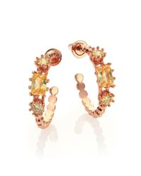 Eddie Borgo | Pink Estate Rose Goldtone Crystal Hoop Earrings/0.75 | Lyst
