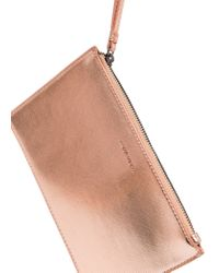 Mango - Pink Metallic Cosmetic Bag - Lyst