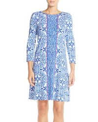 Lilly Pulitzer - Blue 'ophelia' Print Trapeze Dress - Lyst