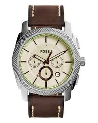 Fossil - Metallic 'machine' Chronograph Bracelet Watch - Lyst