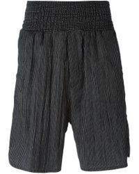 Societe Anonyme - Black Elasticated Waistband Stripe Shorts - Lyst
