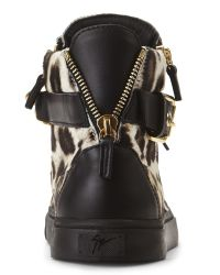 Giuseppe Zanotti - Multicolor Leopard & Black London Chain Sneakers - Lyst