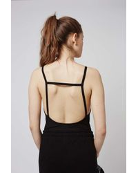 TOPSHOP - Black Petite Strappy Back Body - Lyst
