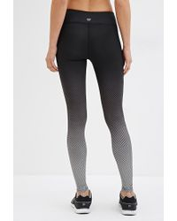 Forever 21 - Black Active Ombre Chevron Leggings You've Been Added To The Waitlist - Lyst